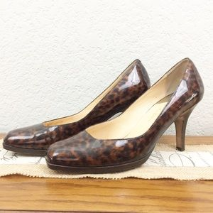Cole Hall Tortoise Shell Patent Leather Heels